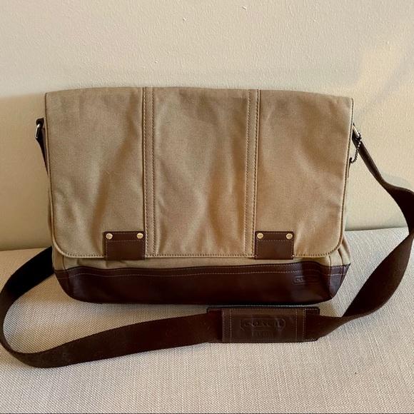 Coach messenger laptop bag Camden canvas leather